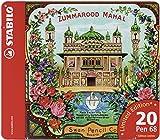 Premium-Filzstifte - STABILO Pen 68 - limitierte Edition 'Zummarood Mahal' - 20er Metalletui - mit 20 verschiedenen Farben