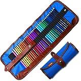 Buntstifte Set, 36 Brillanten Farben Bleistift Set mit Rollbaren Canvas Tasche für Kinder & Erwachsene (Blue)