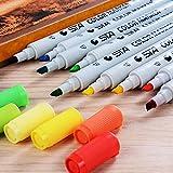Minhe Kreidemarker - 36 Farbe Dual Tip Marker Pen Set