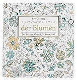 Idena 68126 - Malbuch für Erwachsene, Motiv Blumen, 80 Seiten, zum Erschaffen von kreativen Kunstwerken, als Ausgleich zum Alltag und für Freizeit und Urlaub