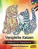 Verspielte Katzen: Malbuch für Erwachsene (Bilder von Tieren zum Ausmalen & Entspannen)