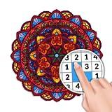 Mandala Malen Nach Zahlen - Malbuch für Erwachsene