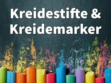 Kreidestifte & Kreidemarker für Fenster, Tafel: Tolle Farben