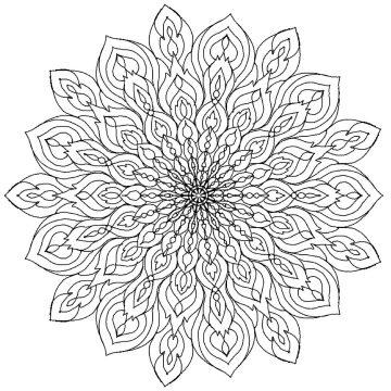 Mandala Vorlage zum Ausdrucken und Ausmalen